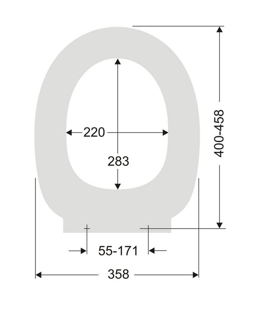 wc sitz passend ideal standard contour 21 absenkautomatik abnehmb. Black Bedroom Furniture Sets. Home Design Ideas
